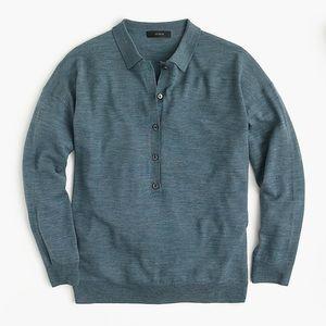 J Crew merino wool polo shirt XXS